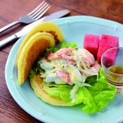 Shrimp Avocado Pancake