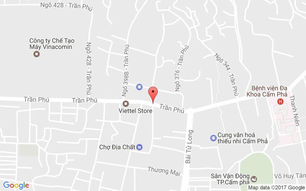 Vị trí bản đồ 100 Trần Phú Tp. Cẩm Phả Quảng Ninh