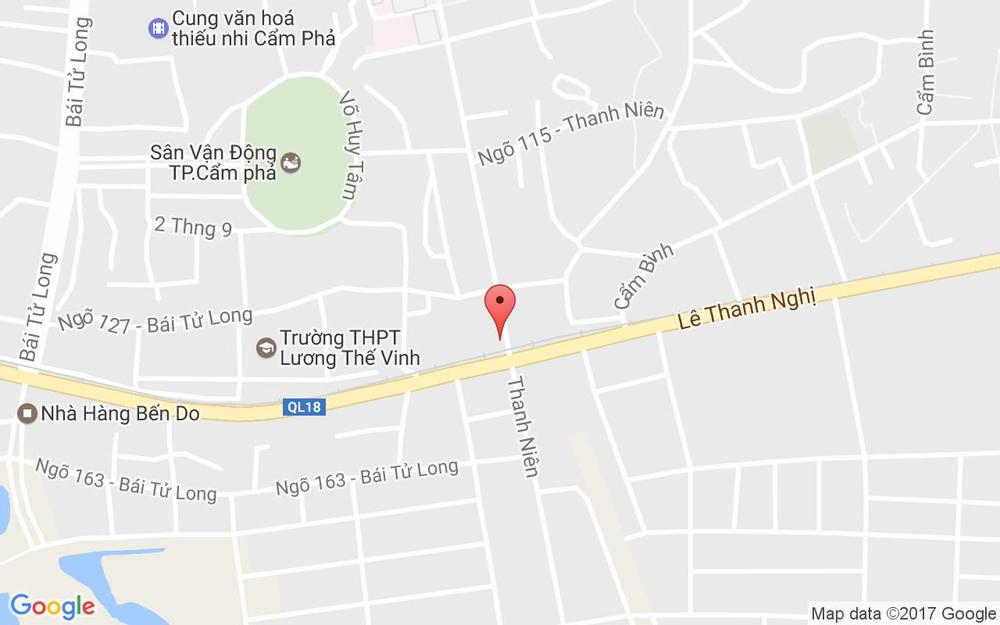 Vị trí bản đồ Thanh Niên, Cẩm Thành Tp. Cẩm Phả Quảng Ninh