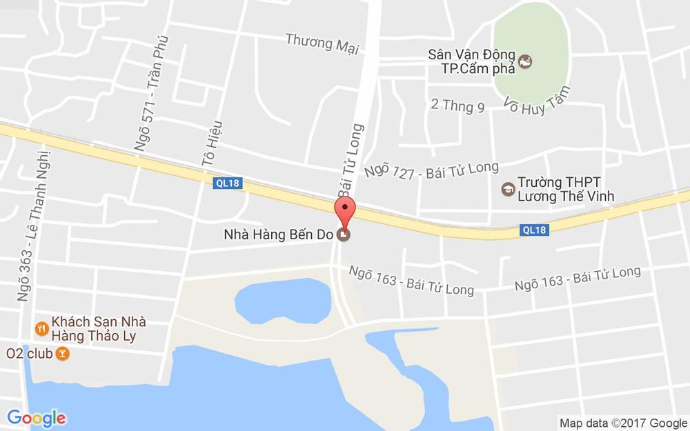 Vị trí bản đồ Bái Tử Long Tp. Cẩm Phả Quảng Ninh