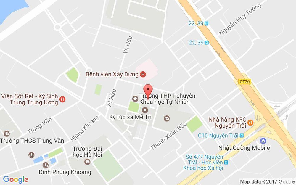 Vị trí bản đồ Kí Túc Xá Mễ Trì, 182 Lương Thế Vinh Quận Thanh Xuân Hà Nội