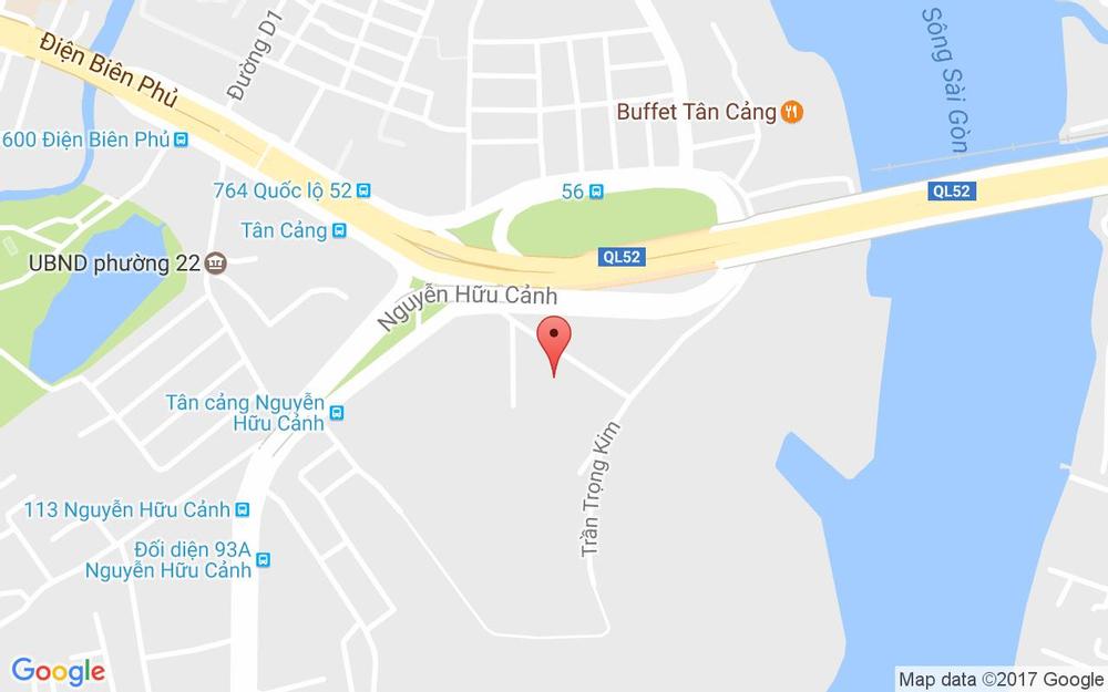 Vị trí bản đồ 208 Nguyễn Hữu Cảnh, P. 22 Quận Bình Thạnh TP. HCM