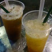 Hồng trà tắc và lục trà chanh
