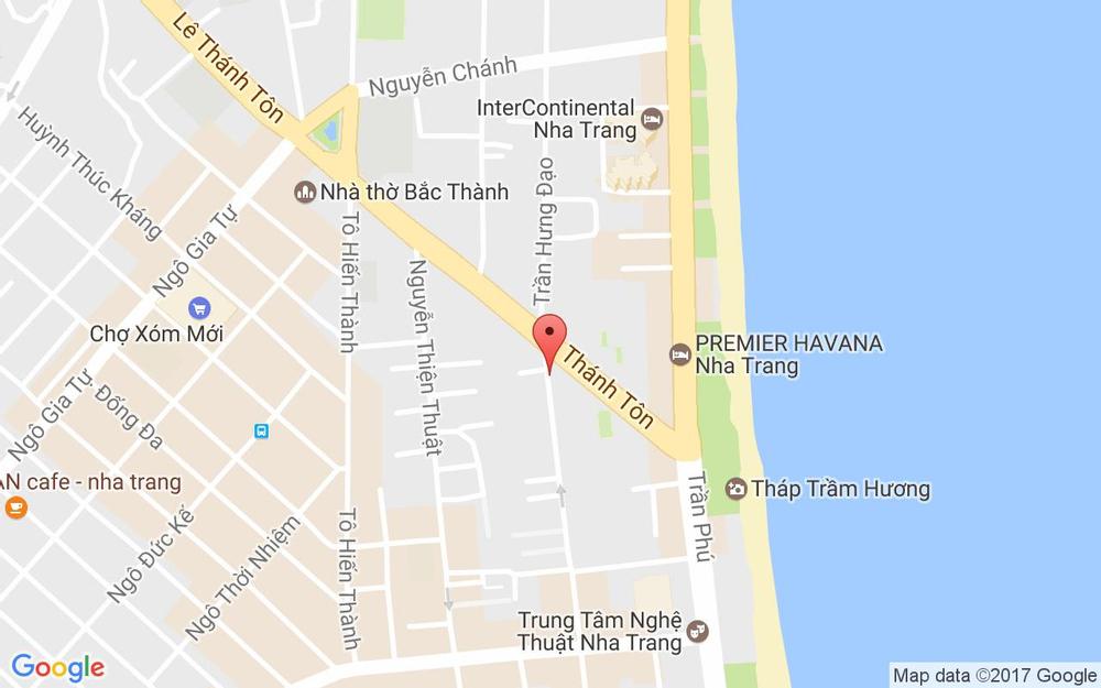 Vị trí bản đồ Tầng 2 & 3, 1 Hùng Vương Tp. Nha Trang Khánh Hoà