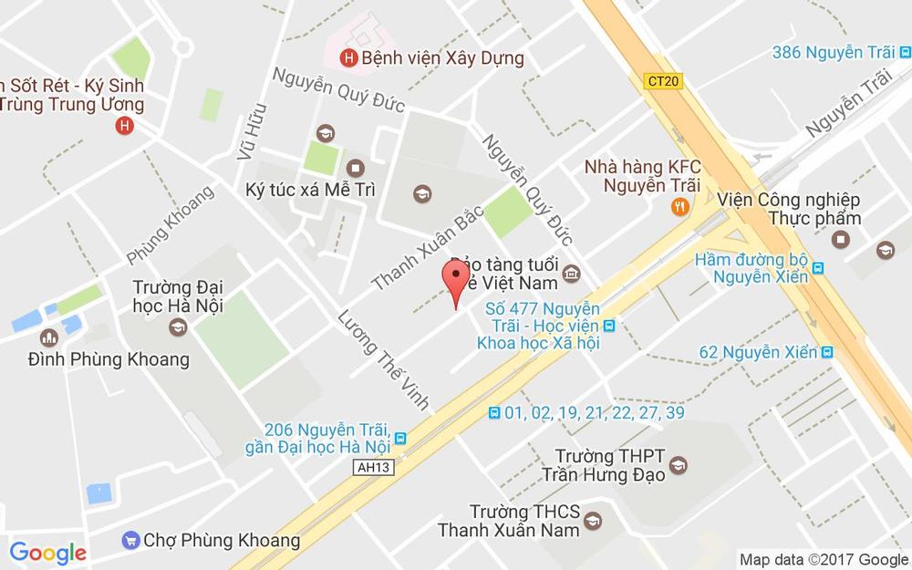 Vị trí bản đồ 102 E4 Thanh Xuân Bắc Quận Thanh Xuân Hà Nội
