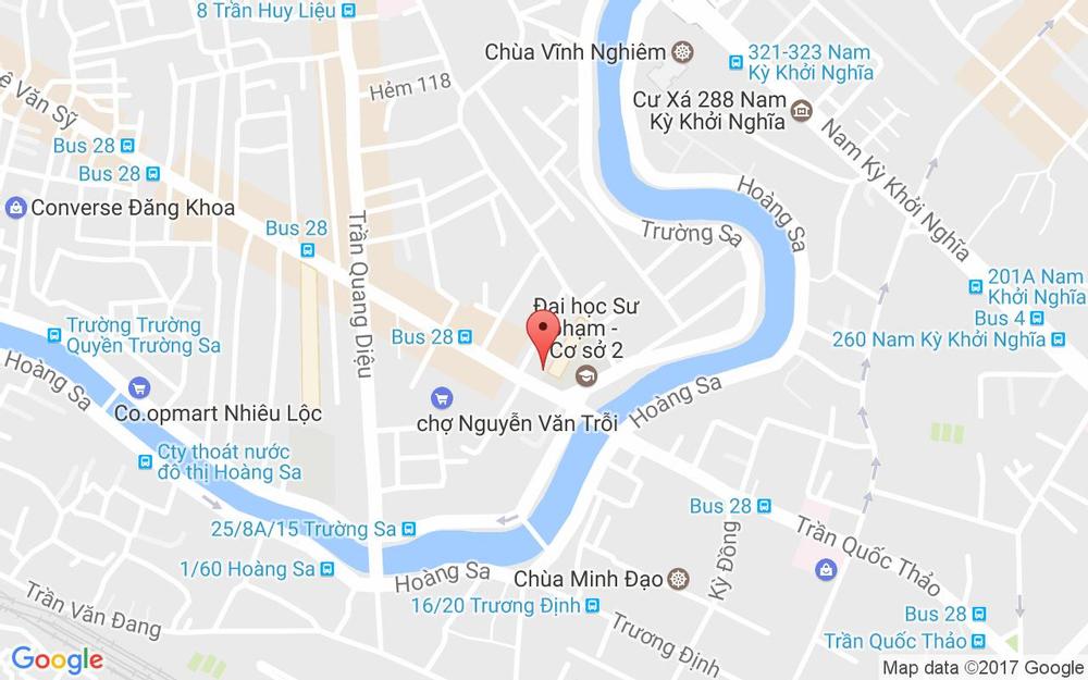 Vị trí bản đồ 252 Lê Văn Sỹ Quận 3 TP. HCM