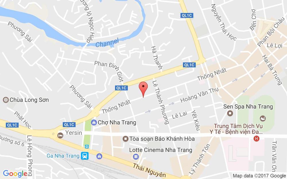 Vị trí bản đồ 187 Thống Nhất Tp. Nha Trang Khánh Hoà