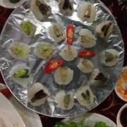 Tôm lóng sống chấm wasabi