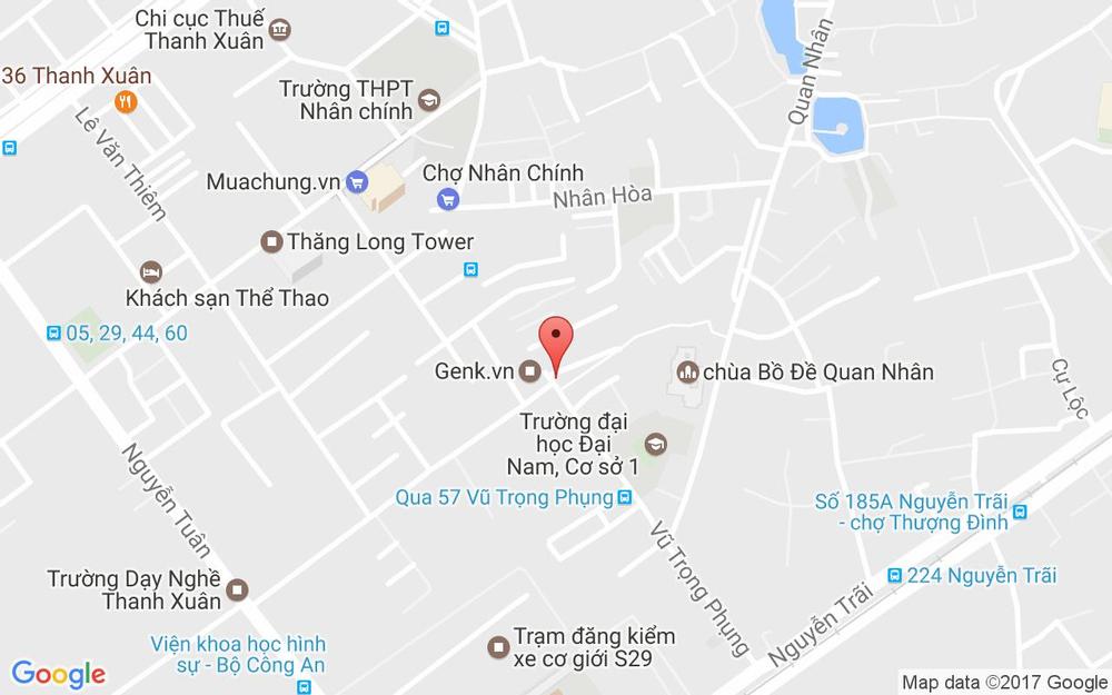 Vị trí bản đồ 62 Vũ Trọng Phụng Quận Thanh Xuân Hà Nội