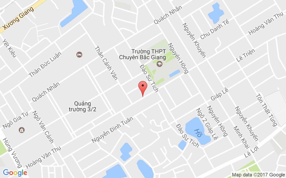 Vị trí bản đồ 236 Hoàng Văn Thụ Tp. Bắc Giang Bắc Giang