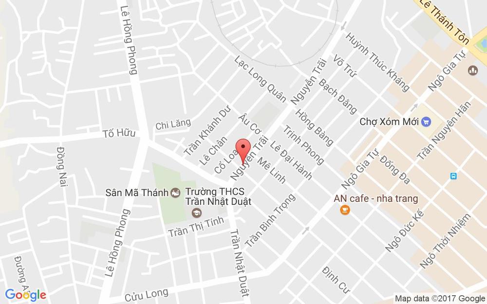 Vị trí bản đồ Ngã 4 Nguyễn Trãi - Nguyễn Hữu Huân Tp. Nha Trang Khánh Hoà