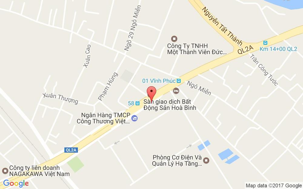 Vị trí bản đồ Bánh Mì Phúc Thuận Phát ở Vĩnh Phúc