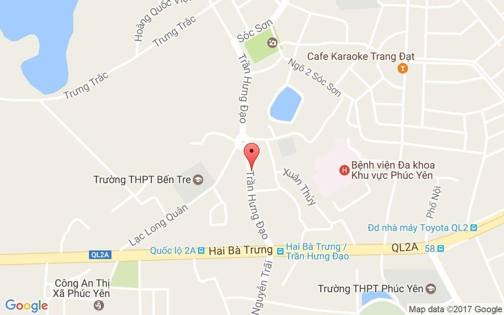 Vị trí bản đồ Minh Hải Bakery ở Vĩnh Phúc