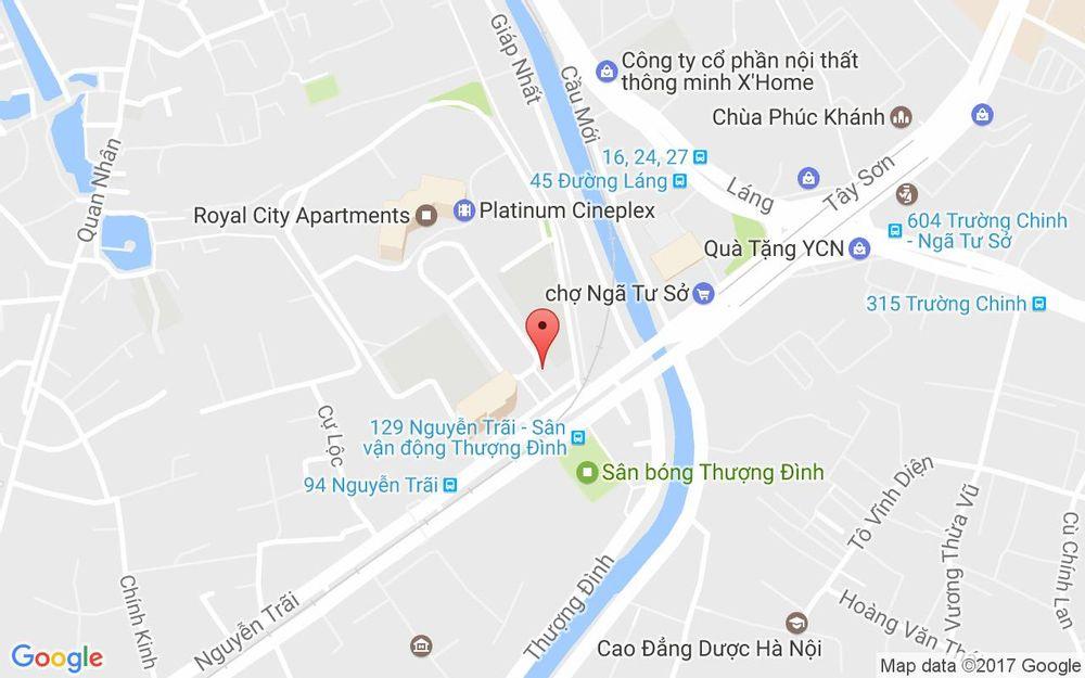 Vị trí bản đồ Tầng B2 Royal City Quận Thanh Xuân Hà Nội