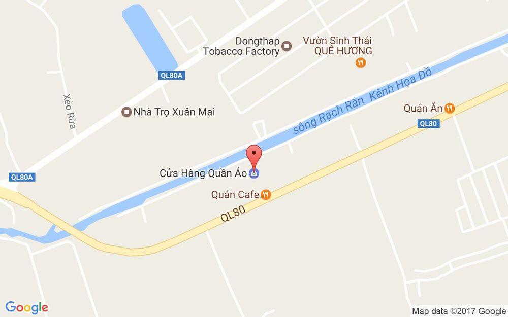 Vị trí bản đồ Vườn Sinh Thái Hương Quê ở Đồng Tháp
