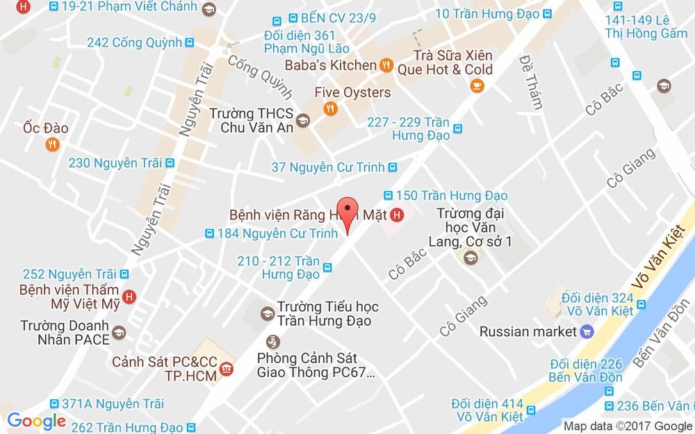 Vị trí bản đồ Chung cư cũ, lầu 2 số 178 Trần Hưng Đạo, P. Nguyễn Cư Trinh Quận 1 TP. HCM