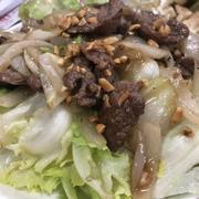 Sa lách trộn thịt bò