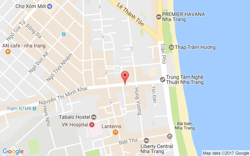 Vị trí bản đồ 3 Nguyễn Thị Minh Khai Tp. Nha Trang Khánh Hoà