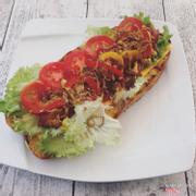 Chili cheese hot dog