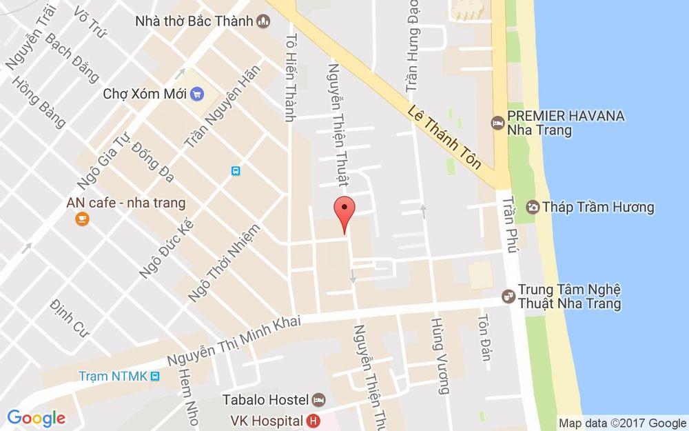 Vị trí bản đồ Tô Hiến Thành Tp. Nha Trang Khánh Hoà