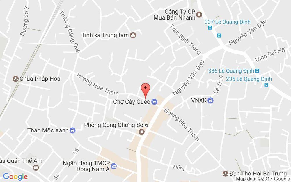 Vị trí bản đồ 179 Hoàng Hoa Thám, P. 6 Quận Bình Thạnh TP. HCM
