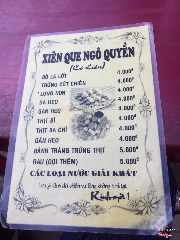 Cô Liên - Xiên Que Ngô Quyền ở Khánh Hoà