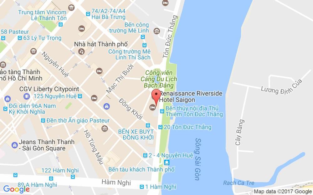 Vị trí bản đồ 17 Tôn Đức Thắng, P. Bến Nghé Quận 1 TP. HCM