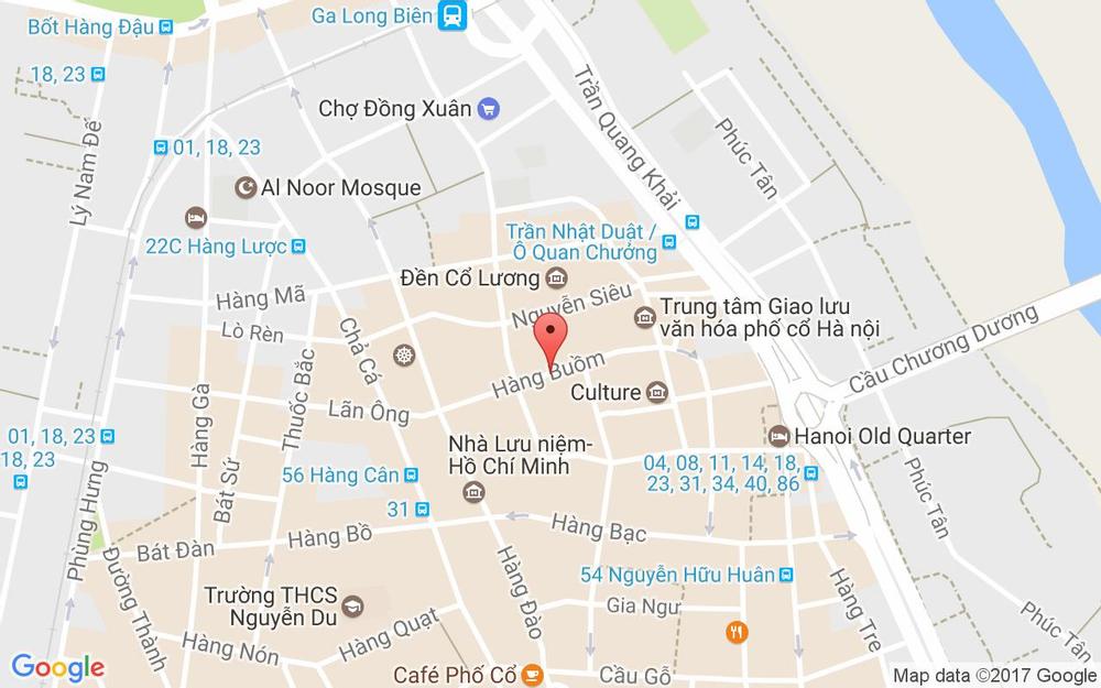Vị trí bản đồ Oliving Residence ở Hà Nội