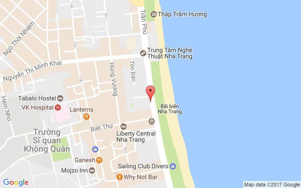 Vị trí bản đồ Mường Thanh Nha Trang Centre, 60 Trần Phú, P. Lộc Thọ Tp. Nha Trang Khánh Hoà