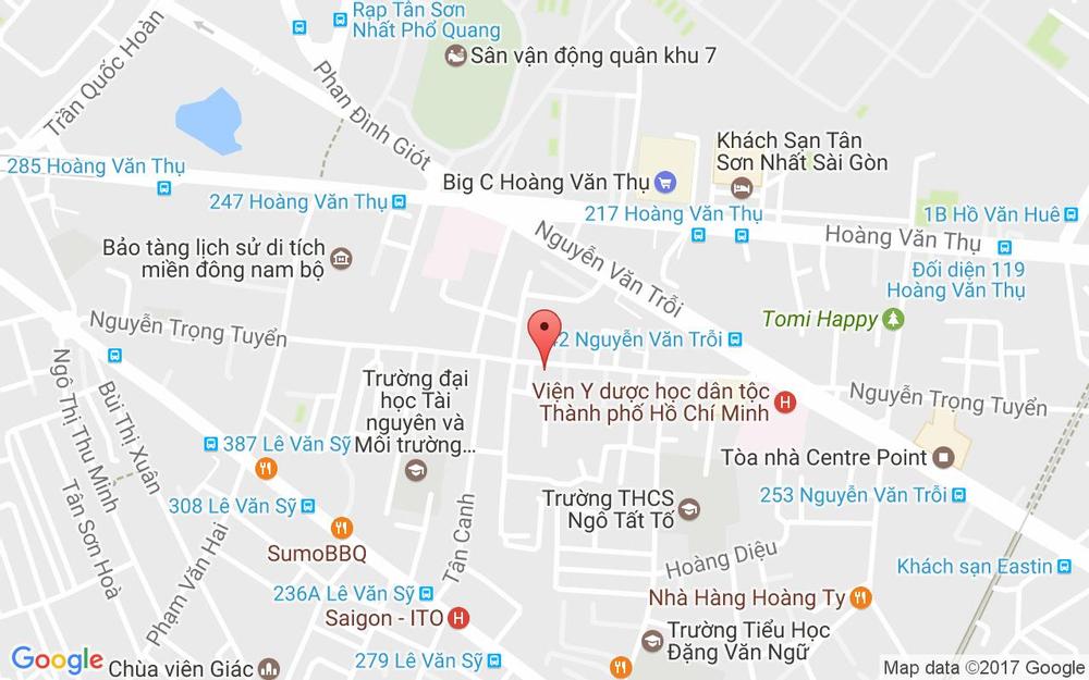 Vị trí bản đồ 335 Nguyễn Trọng Tuyển, P. 1 Quận Tân Bình TP. HCM