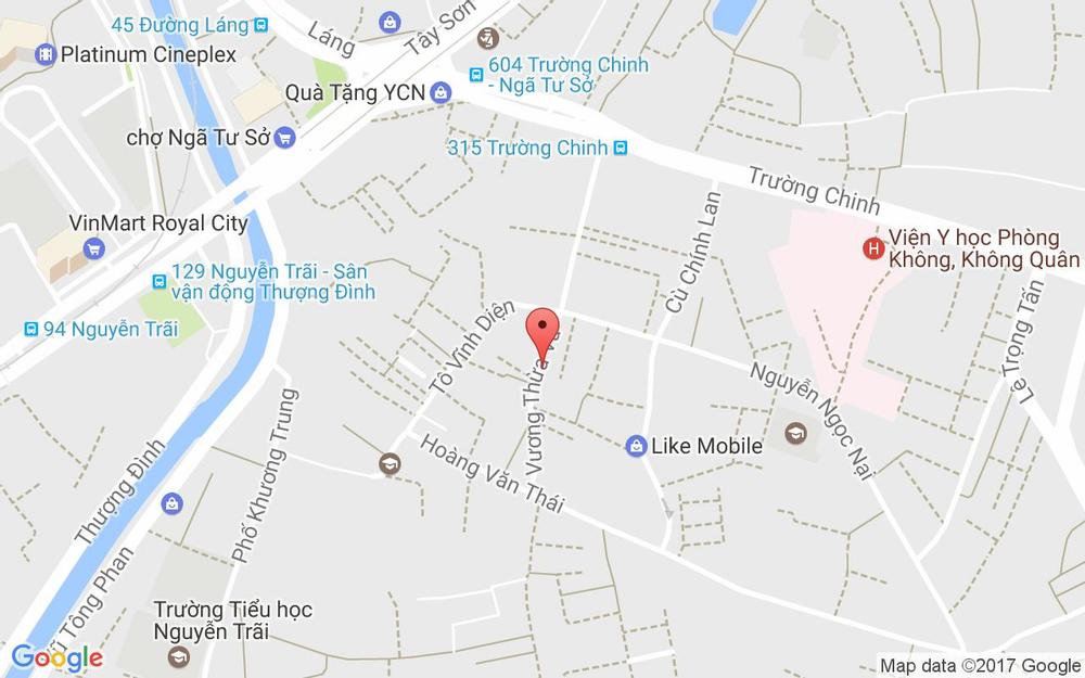 Vị trí bản đồ 81 Vương Thừa Vũ Quận Thanh Xuân Hà Nội