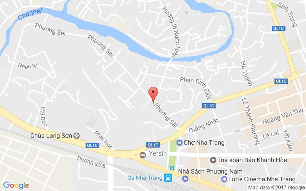 Vị trí bản đồ 75 Phương Sài Tp. Nha Trang Khánh Hoà