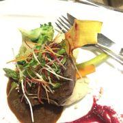 Bò Úc rip eye nhồi nấu xào nướng, kèm khoai tây nghiền
