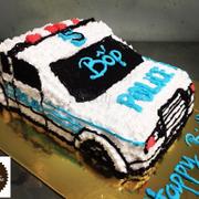 Bánh sinh nhật ô tô cảnh sát