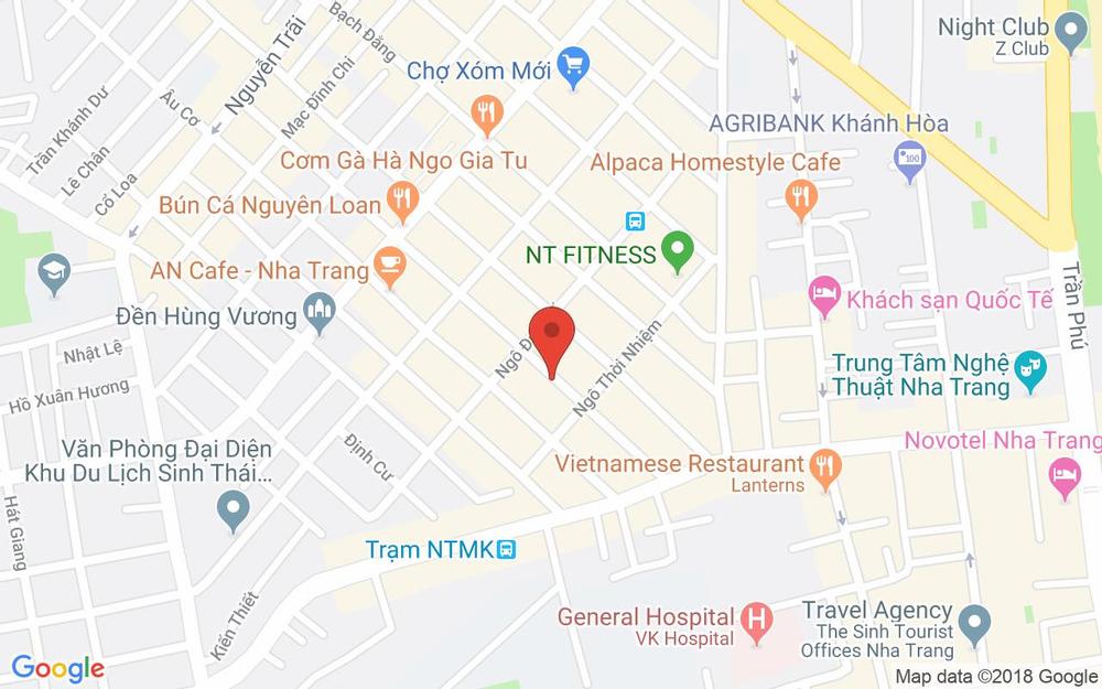 Vị trí bản đồ 132 Bạch Đằng Tp. Nha Trang Khánh Hoà