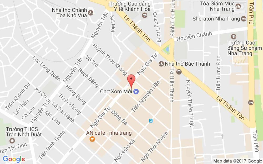 Vị trí bản đồ Ngô Gia Tự, P. Tân Lập Tp. Nha Trang Khánh Hoà
