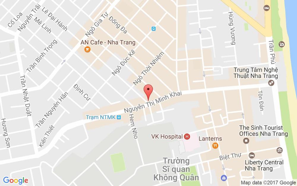 Vị trí bản đồ 81A Lê Đại Hành Tp. Nha Trang Khánh Hoà