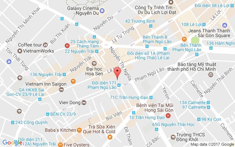 Vị trí bản đồ 4 Phạm Ngũ Lão Quận 1 TP. HCM
