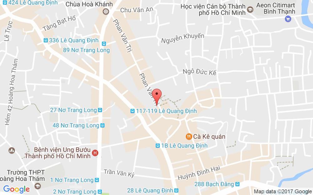 Vị trí bản đồ 37 Phan Văn Trị, P. 14 Quận Bình Thạnh TP. HCM