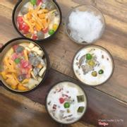 Sữa chua mít, hoa quả dầm caramen, caremen thạch rau câu