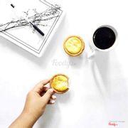Kết hợp coffee hot ít đường tuyệt hảo  lun !!!