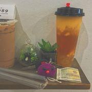 Trà hoa quả xoài và trà sữa capuchino❤️ rất ngon