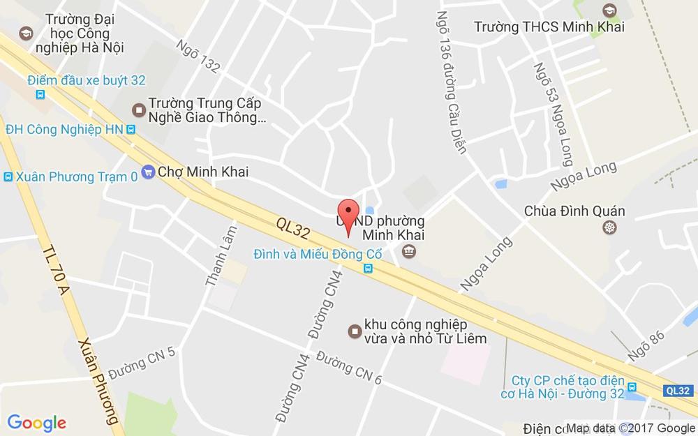 Vị trí bản đồ 140 Cầu Diễn, P. Minh Khai Quận Bắc Từ Liêm Hà Nội