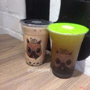 Trà sữa darjeeling 29k và trà xanh tiger đào 32k