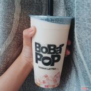 Bobapop - Trà Xanh Sữa size L thêm hạt hoa quả + thạch QQ sữa tươi