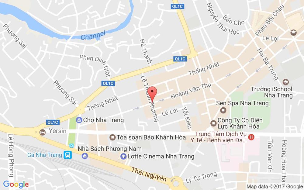 Vị trí bản đồ 147 Hoàng Văn Thụ Tp. Nha Trang Khánh Hoà