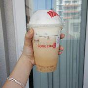 Earl grey Gongcha + trchâu trắng