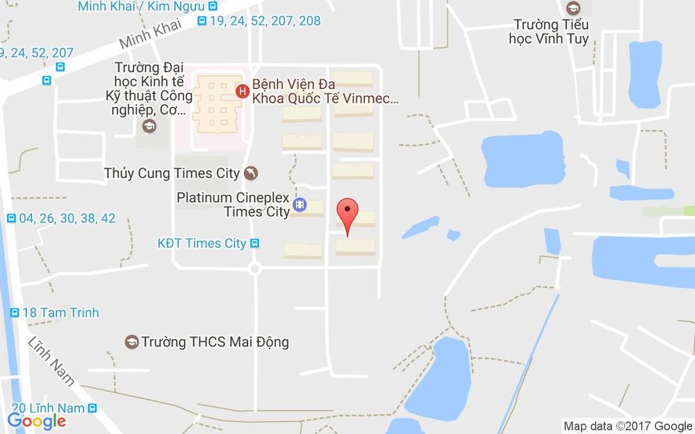 Vị trí bản đồ Homestay In Times City ở Hà Nội