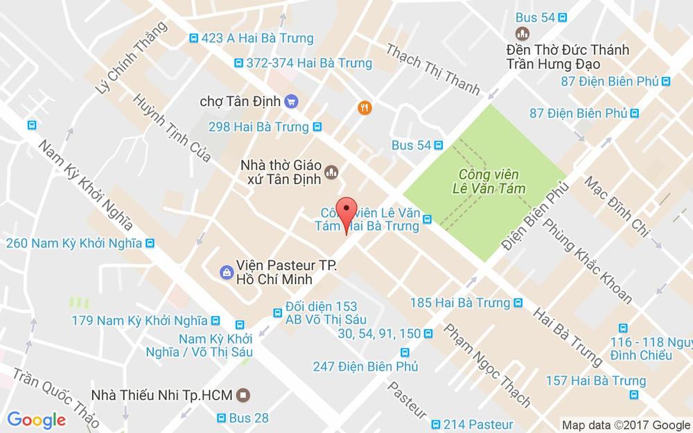 Vị trí bản đồ 150 Võ Thị Sáu Quận 3 TP. HCM