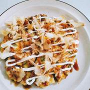 Bánh xèo nhật bản okonomi 40k,ngon khỏi  bàn nhé mọi nguoi